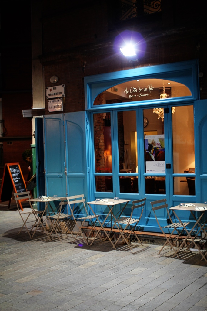 cafe in the evening